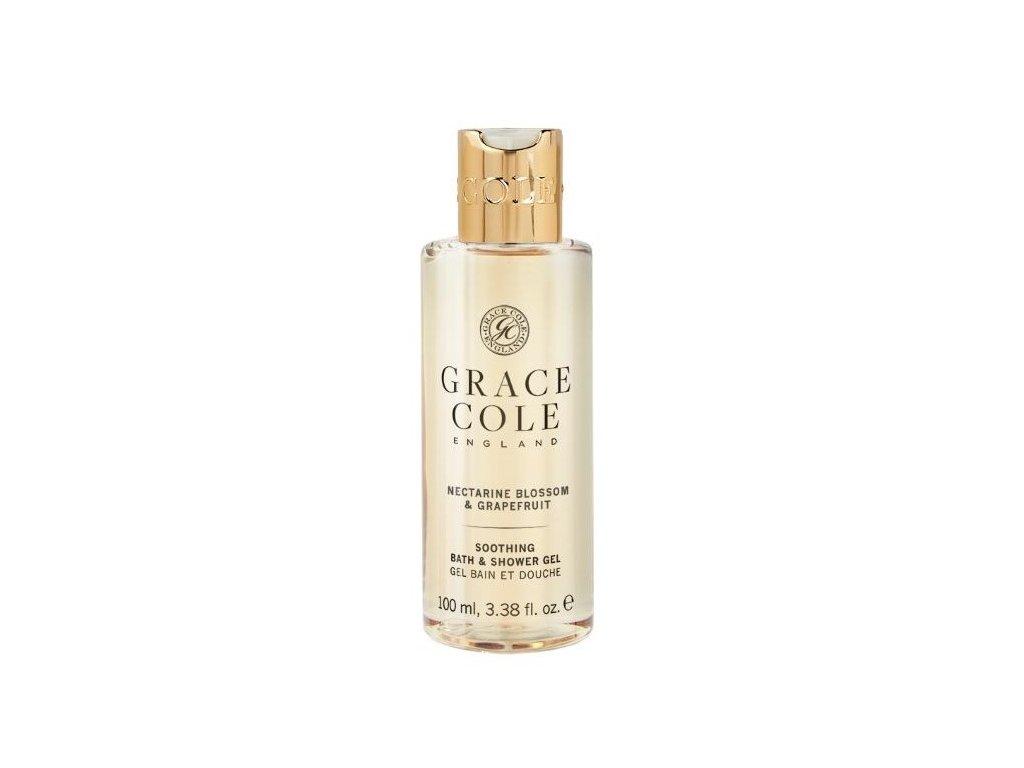 Grace Cole Sprchový gel v cestovní verzi - Nectarine Blossom & Grapefruit, 100ml