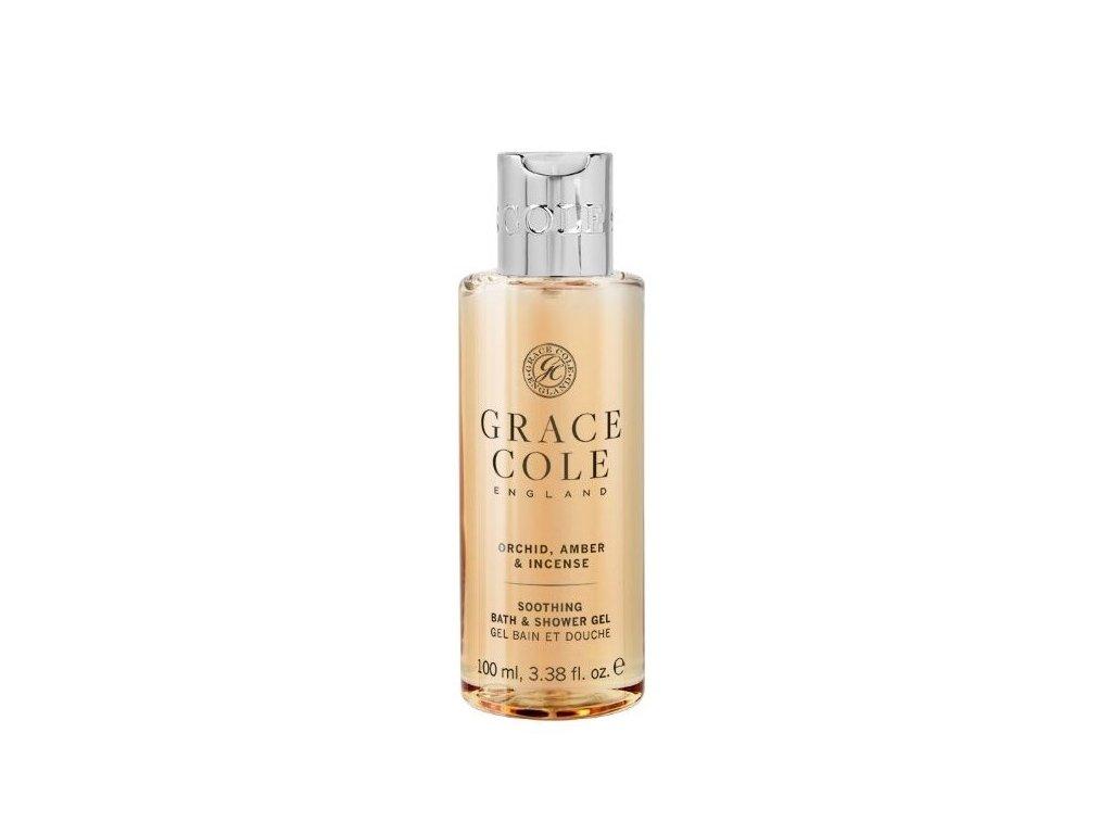 Grace Cole Sprchový gel v cestovní verzi - Orchid, Amber & Incense, 100ml