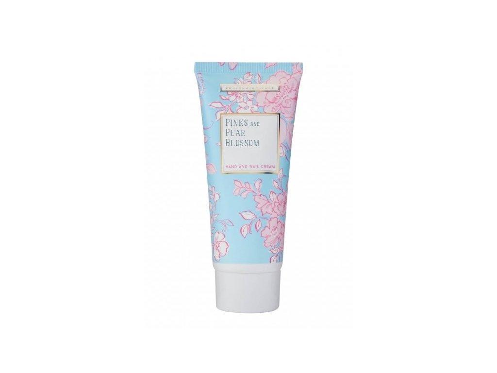 Heathcote & Ivory Vyživující krém na ruce a nehty - Pinks & Pear Blossom, 100ml