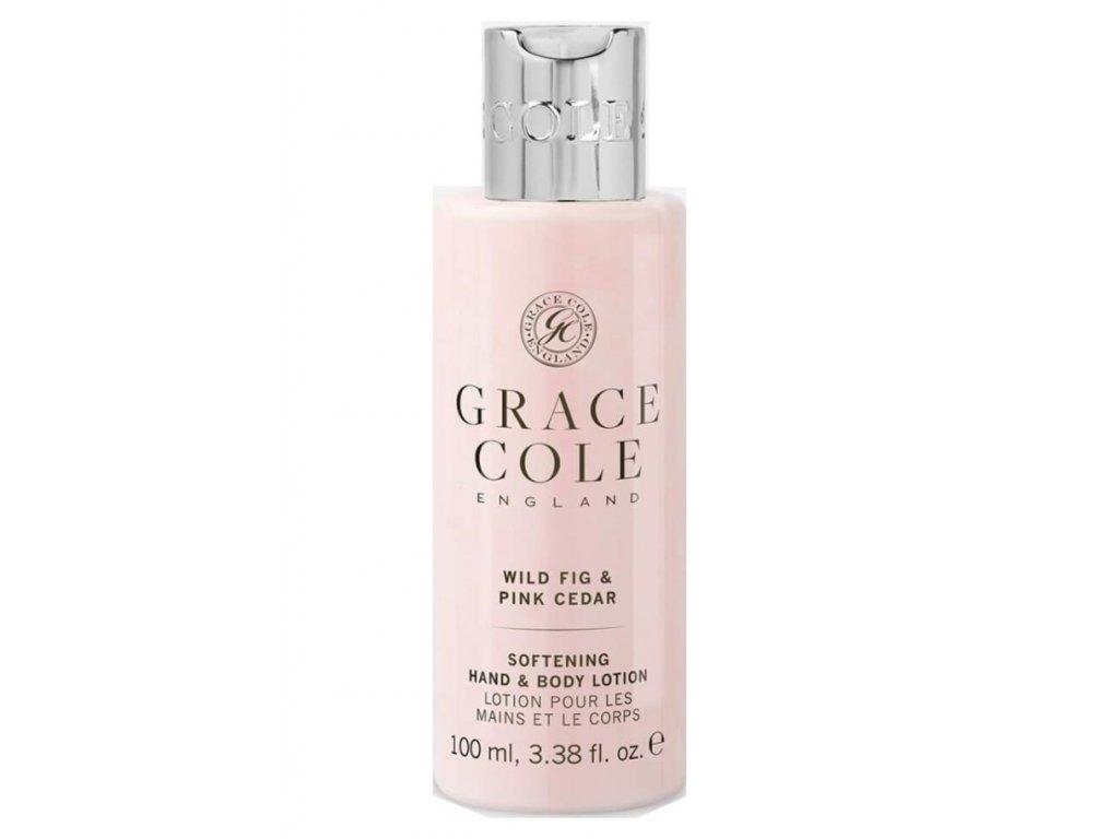 Grace Cole Hydratační mléko na ruce a tělo v cestovní verzi - Fík & Růžový cedr, 100ml