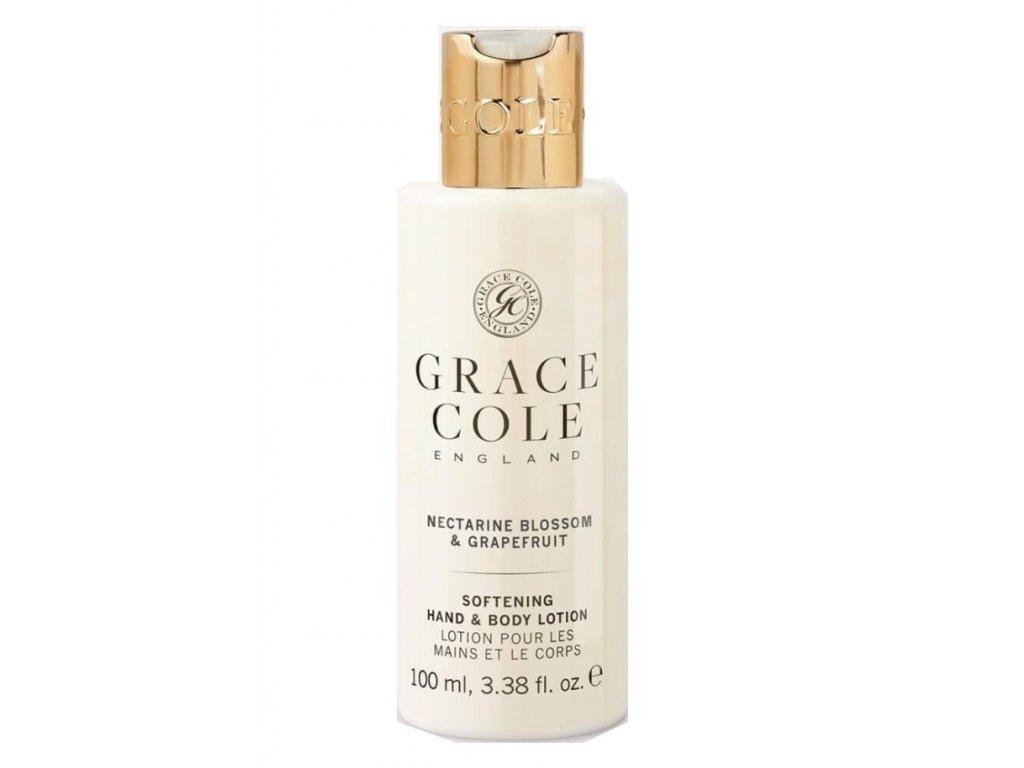 Grace Cole Hydratační mléko na ruce a tělo cestovní -Nectarine Blossom & Grapefruit, 100ml