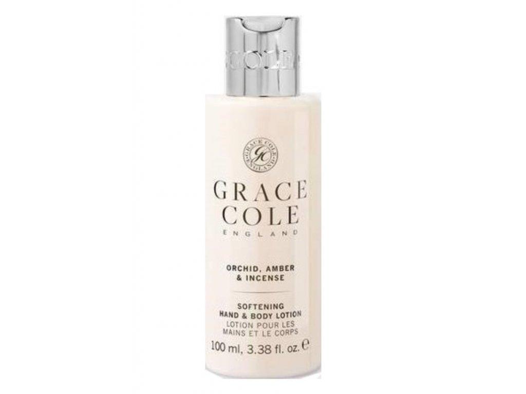 Grace Cole Hydratační mléko na ruce a tělo v cestovní verzi -Orchid, Amber & Incense 100ml