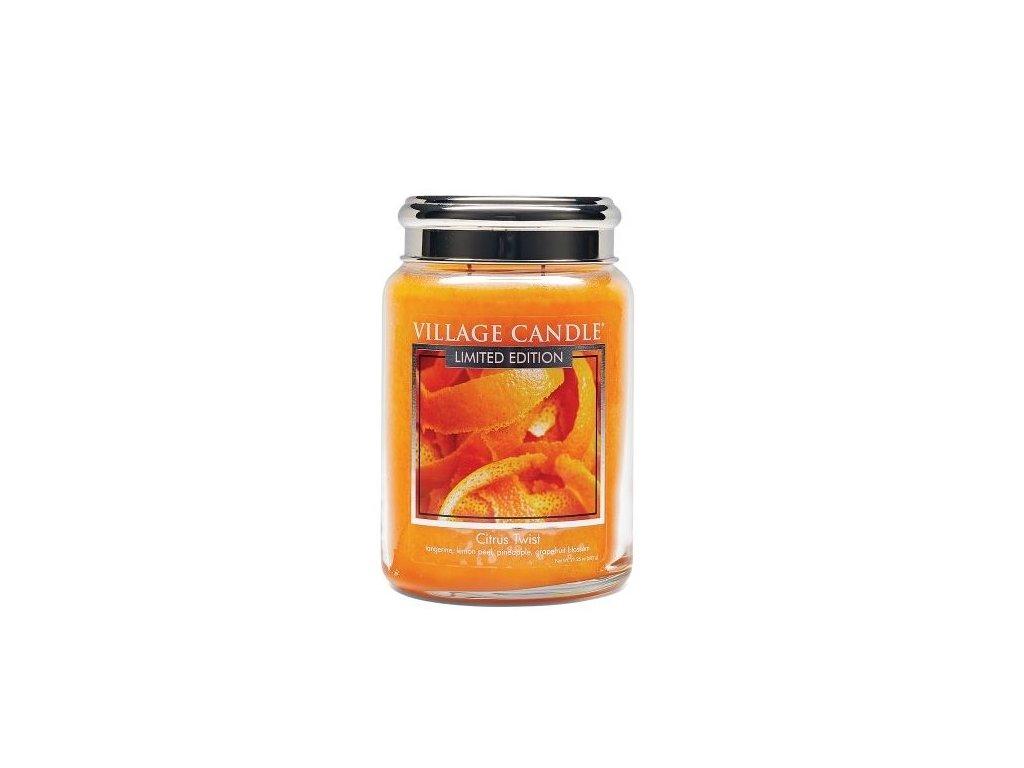 Village Candle Vonná svíčka ve skle, Citrusové osvěžení - Citrus Twist 26oz