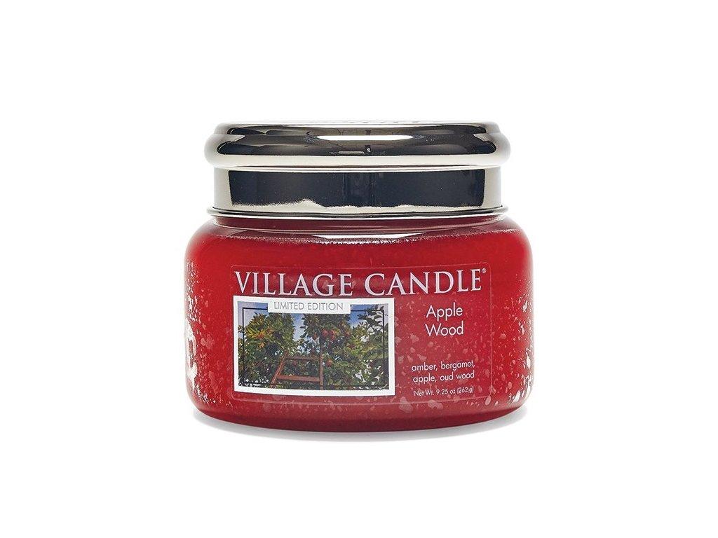 Village Candle Vonná svíčka ve skle, Jabloňové Dřevo - Apple Wood 11oz