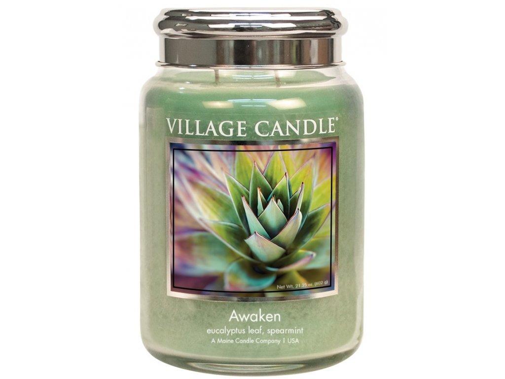 Village Candle Vonná svíčka ve skle - Awaken, 26oz