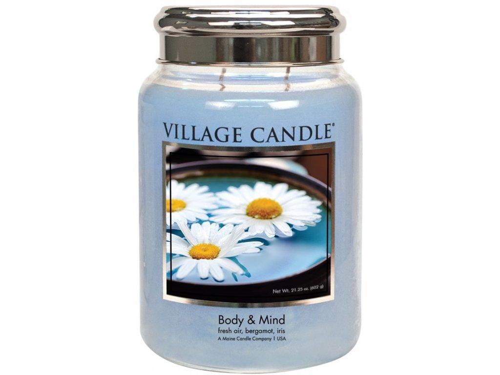Village Candle Vonná svíčka ve skle - Body & Mind, 26oz