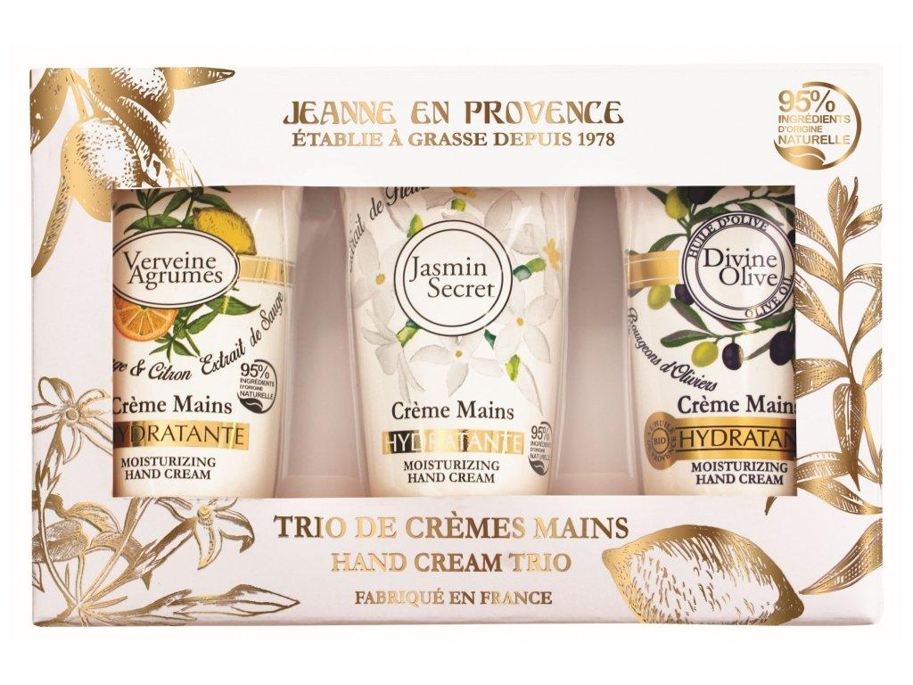 Jeanne en Provence Dárková sada krémů na ruce, 3x75ml