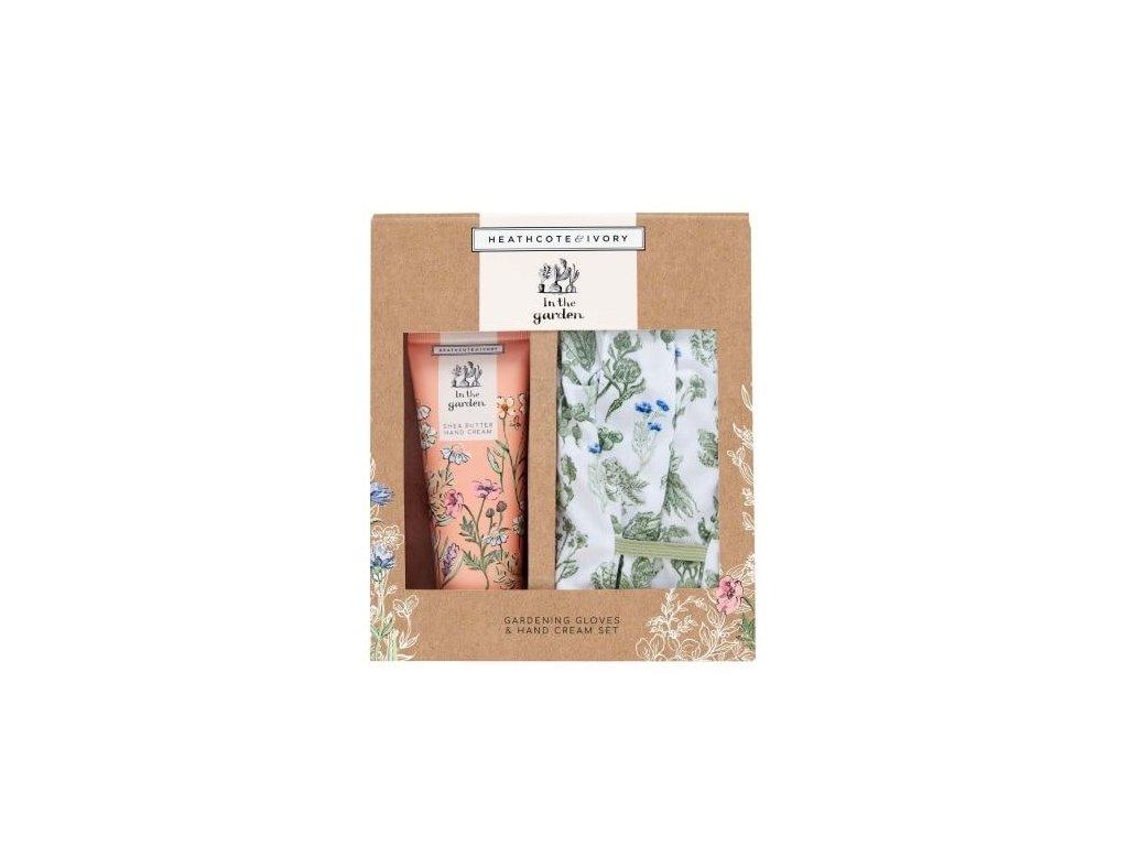 Heathcote & Ivory Pečující sada (krém na ruce 100ml+bavlněné rukavice)- In the garden