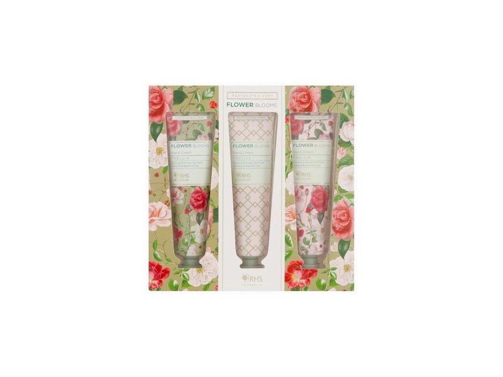 Heathcote & Ivory Sada vyživujících krémů na ruce - Flower Blooms, 3x30ml