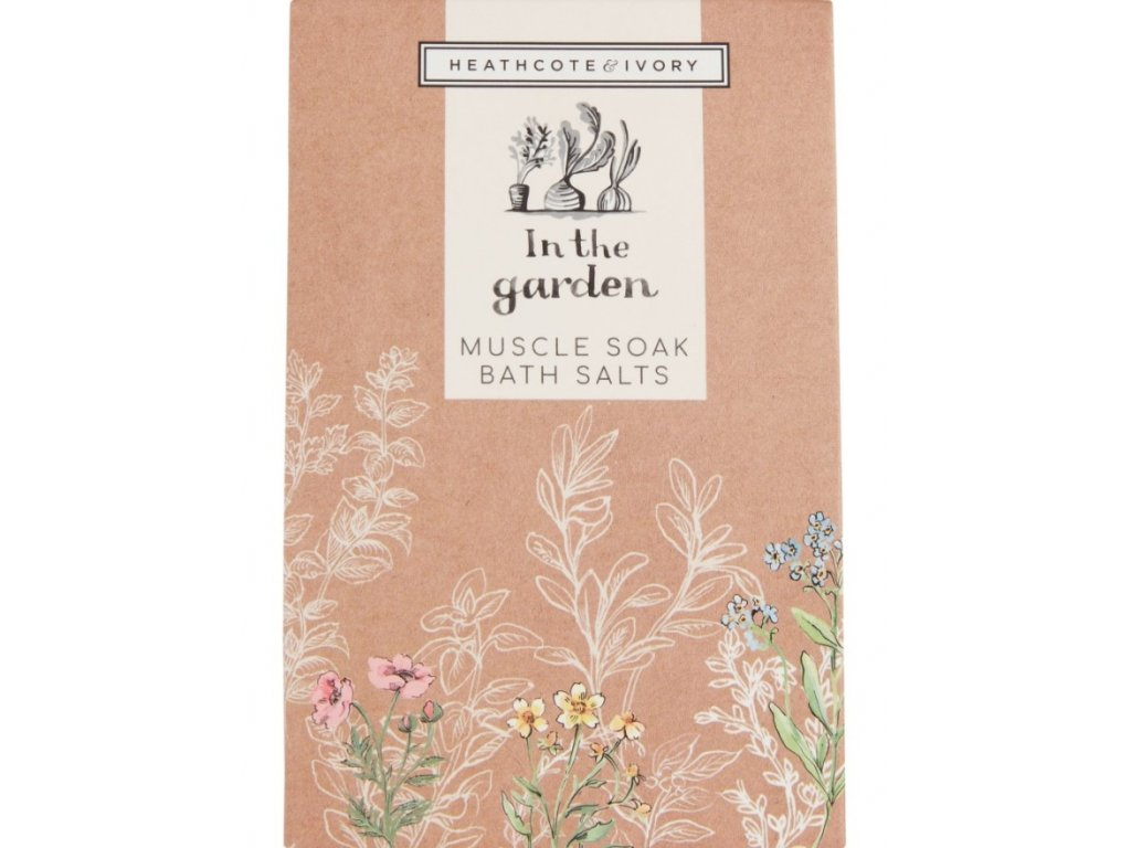 Heathcote & Ivory Přírodní pečující sůl do koupele - In the garden, 200g
