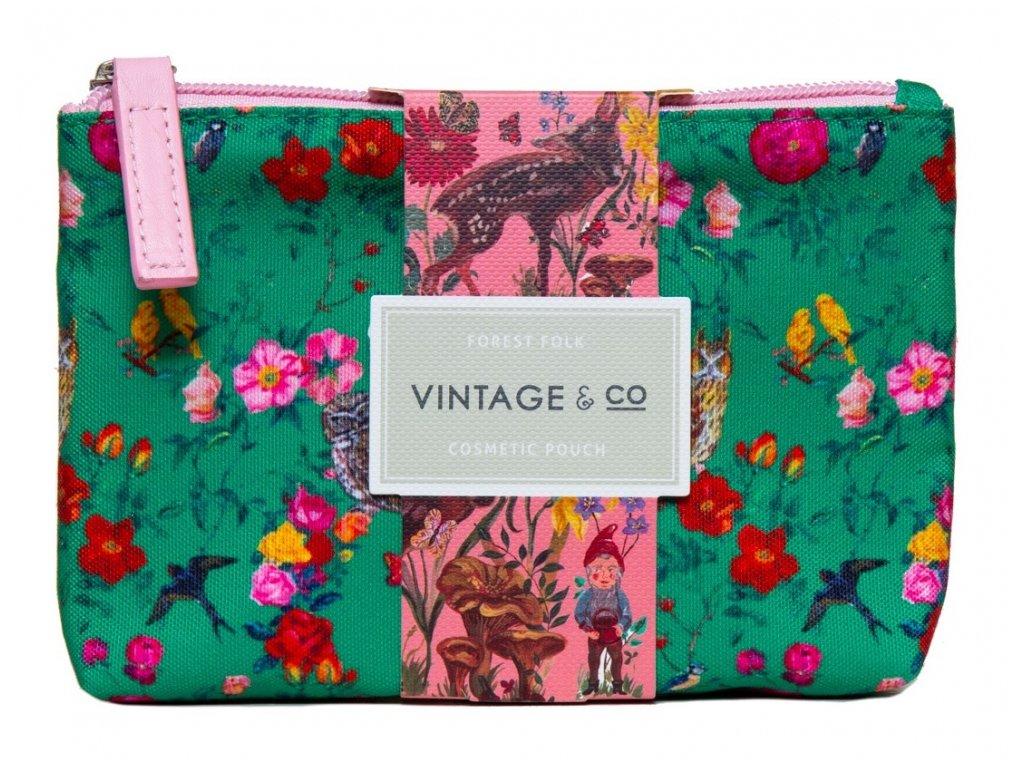 Heathcote & Ivory Kosmetická taška (krém na ruce 30ml + dezinfekce 15ml) - Lesní zvířátka