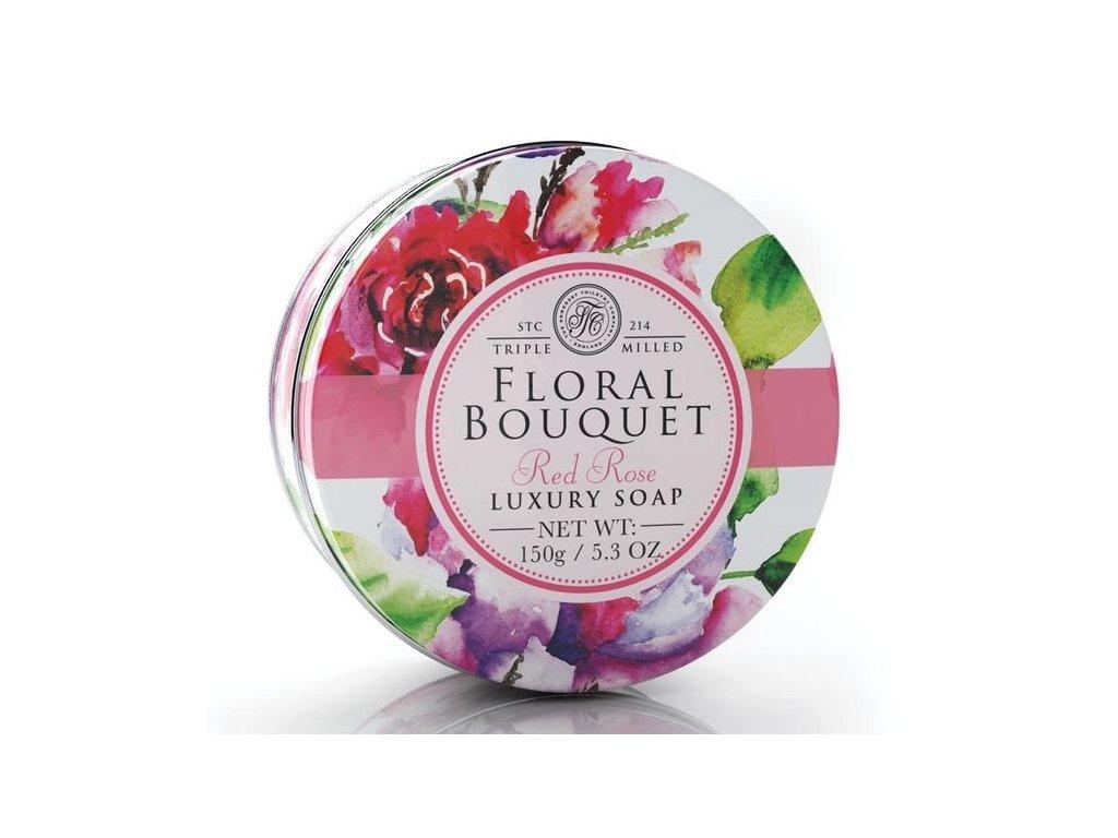 Somerset Toiletry Mýdlo v plechu - Růže, 150g
