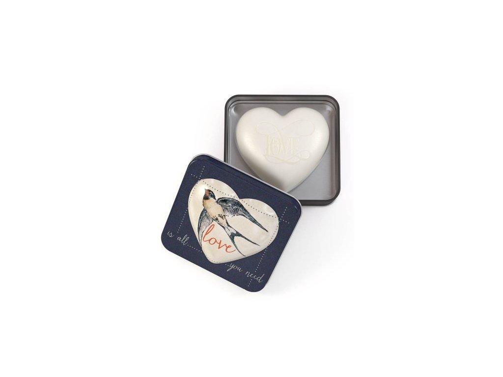 Somerset Toiletry Mýdlo v plechu - Love is all you need, 150g