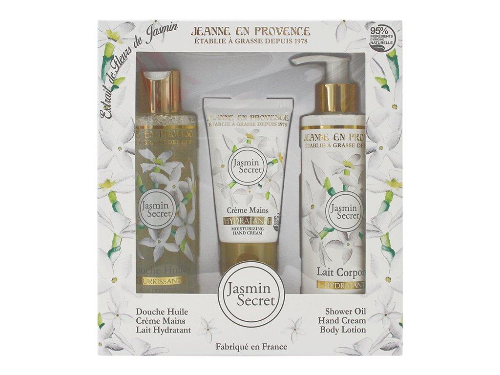 Jeanne en Provence Dárková sada - Tajemství Jasmínu, 3ks