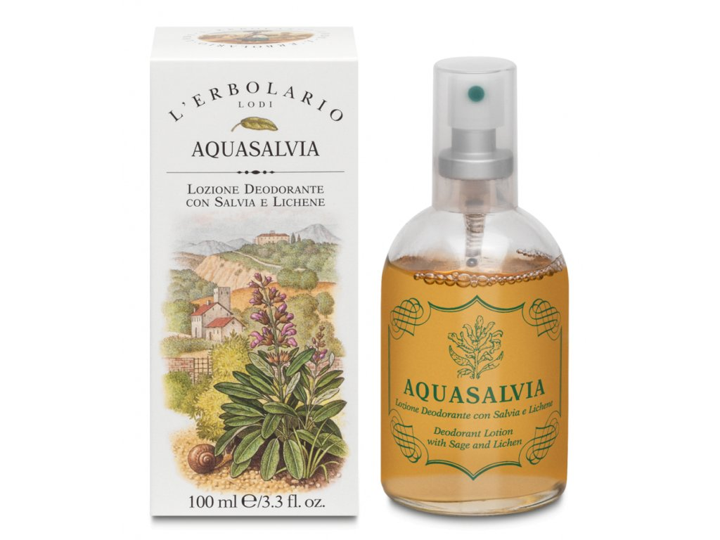 L´Erbolario Dámský deodorant s rozprašovačem - Aquasalvia, 100ml