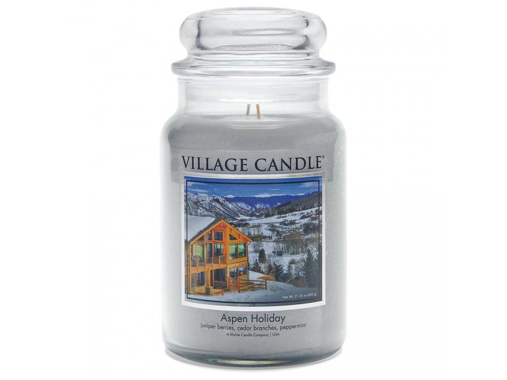 Village Candle Vonná svíčka ve skle - Aspen Holiday, 16oz