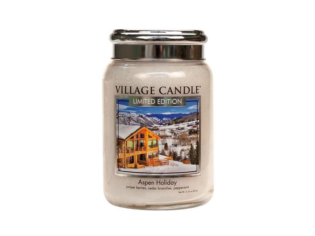Village Candle Vonná svíčka ve skle - Aspen Holiday, 26oz
