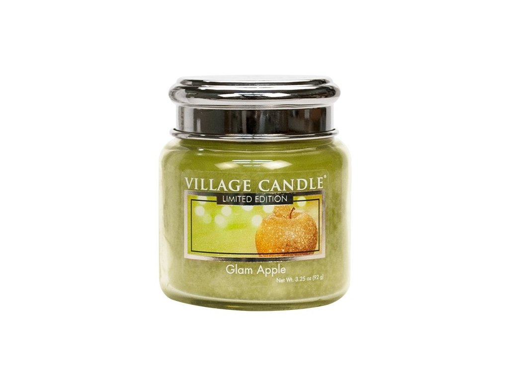 Village Candle Vonná svíčka ve skle - Glam Apple, 3,75oz