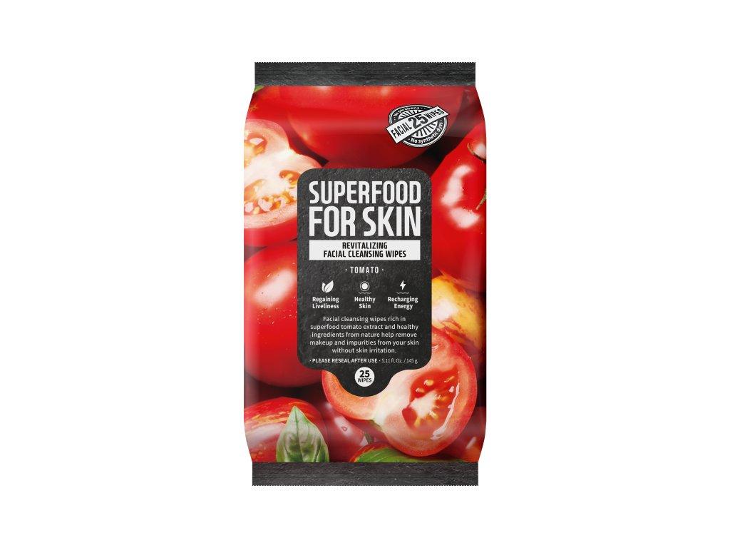 Superfood For Skin Čisticí ubrousky - Rajče, 145g