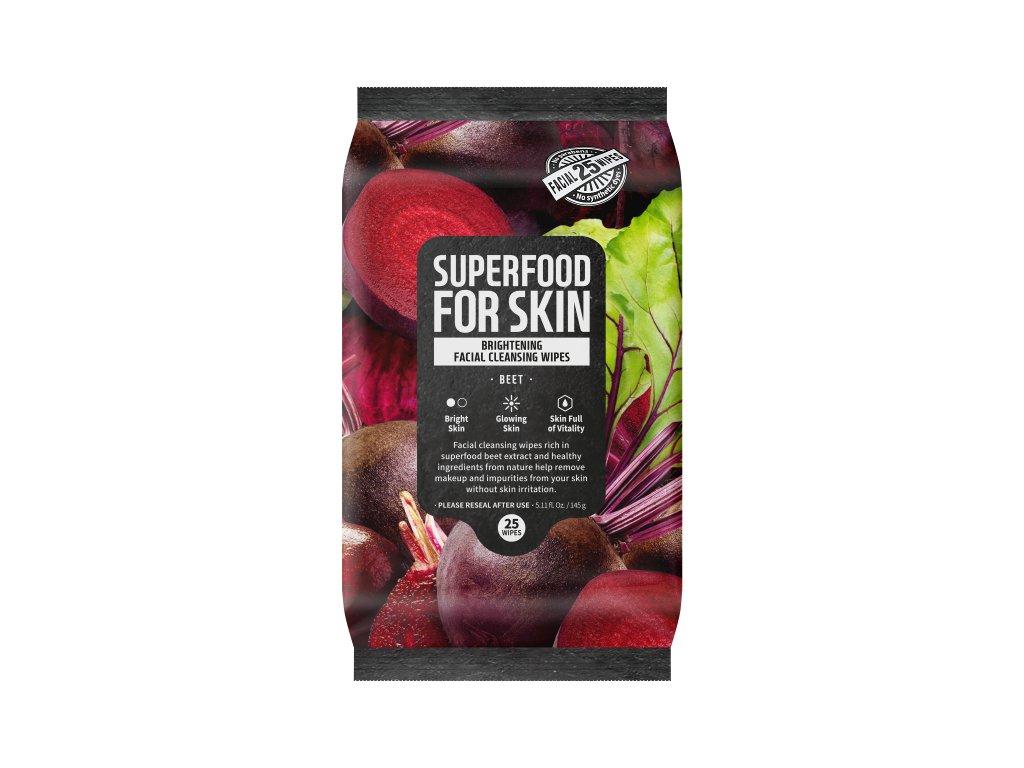 Superfood For Skin Čisticí ubrousky - Řepa, 145g