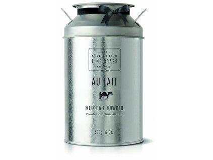 Scottish Fine Soaps Sypký prášek do koupele - Au Lait - Čerstvé Mléko, 500g