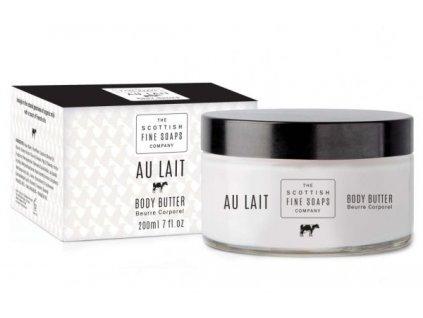 Scottish Fine Soaps Tělové máslo v dóze - Au Lait - Čerstvé Mléko, 200ml
