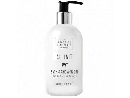 Scottish Fine Soaps Koupelový a sprchový gel - Au Lait - Čerstvé Mléko, 300ml
