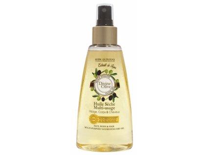 Jeanne en Provence Suchý olej na obličej, tělo a vlasy - Oliva, 150ml