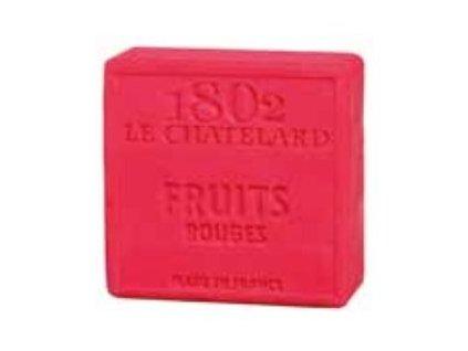 Le Chatelard Mýdlo čtverec - Červené ovoce, 100g