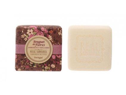 Real Saboaria Luxusní mýdlo - Bílý jasmín 50g