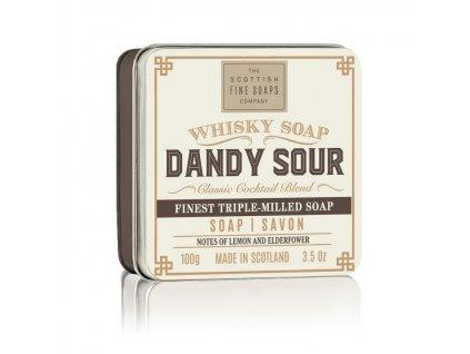 Scottish Fine Soaps Mýdlo v plechu - Whisky Dandy Sour - Citrón a Bezový Květ, 100g