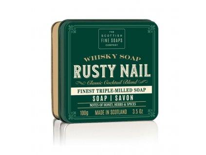 Scottish Fine Soaps Mýdlo v plechu - Whisky Rusty Nail - Med a Bylinky, 100g