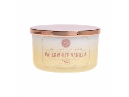 DW Home Vonná svíčka ve skle Vanilka - Paperwhite Vanilla, 13,5oz