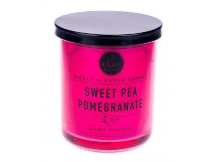 DW Home Vonná svíčka ve skle Granátové jablko a sladký hrášek-Sweet Pea Pomegranate, 4oz