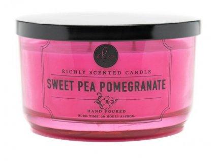 DW Home Vonná svíčka ve skle Granátové jablko a sladký hrášek-Sweet Pea Pomegranate 13,8oz