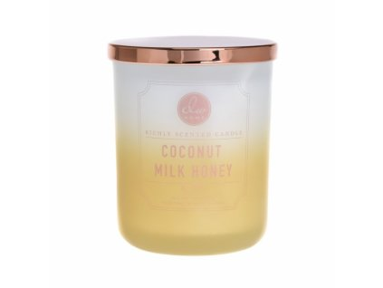DW Home Vonná svíčka ve skle Kokos a Med - Coconut Milk Honey, 15oz
