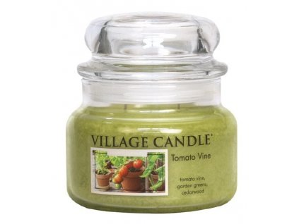 Village Candle Vonná svíčka ve skle, Rajčatová Zahrádka - Tomato Vine, 11oz Premium