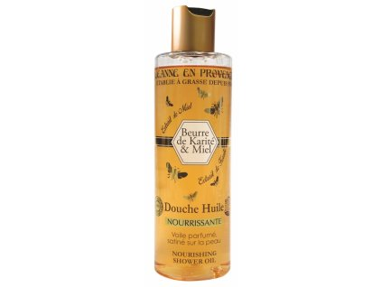 Jeanne en Provence Výživný Sprchový Olej - Bambucké máslo a Med, 250ml