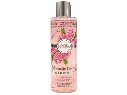 Jeanne en Provence Výživný Sprchový Olej - Podmanivá růže, 250ml