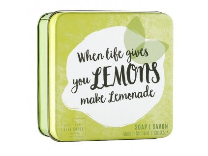 "Scottish Fine Soaps Mýdlo v plechu - ""When life gives you lemons, Make lemonade"", 100g"