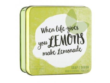 "Scottish Fine Soaps Mýdlo v plechu - ""When life gives you lemons, Make lemonade"", 100g"