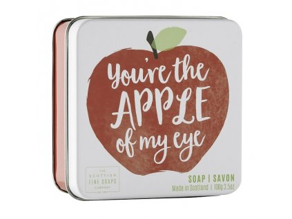 "Scottish Fine Soaps Mýdlo v plechu - ""You're the apple of my eye"", 100g"