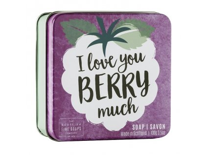 "Scottish Fine Soaps Mýdlo v plechu - ""I love you berry much"", 100g"