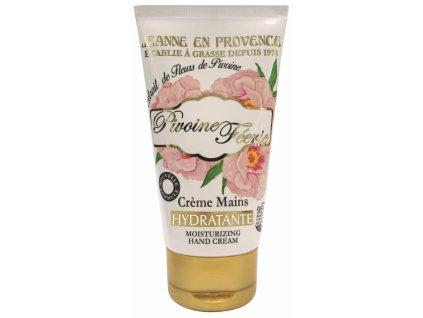 Jeanne en Provence Hydratační krém na ruce - Pivoňková víla, 75ml