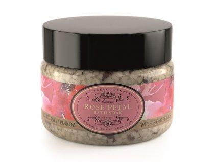 Somerset Toiletry Koupelová sůl - Růže + Plátky růží, 550g