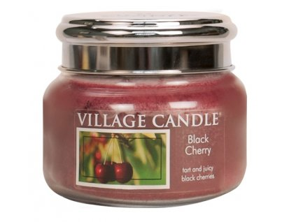 Village Candle Vonná svíčka ve skle, Černá třešeň - Black Cherry, 11oz