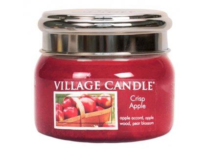 Village Candle Vonná svíčka ve skle, Svěží jablko - Crisp Apple, 11oz