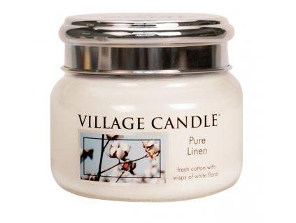 Village Candle Vonná svíčka ve skle, Čisté prádlo - Pure Linen, 11oz