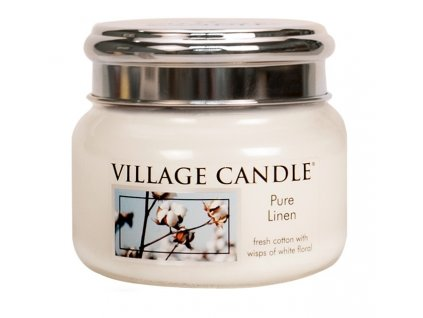 Village Candle Vonná svíčka ve skle - Čisté prádlo - Pure Linen, 11oz