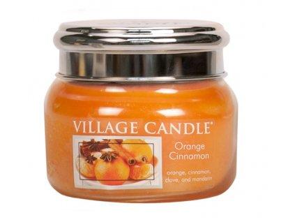 Village Candle Vonná svíčka ve skle, Pomeranč a skořice - Orange Cinnamon, 11oz